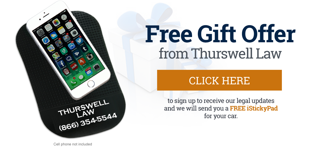 iStickyPad gift from Thurswell Law.