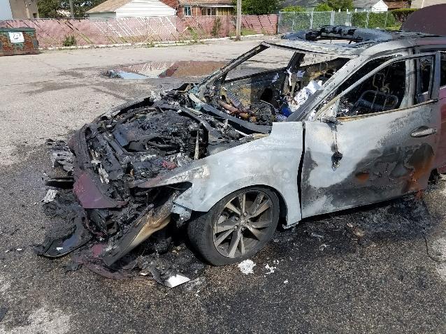 Burned Car Exploded Samsung Cell Phone