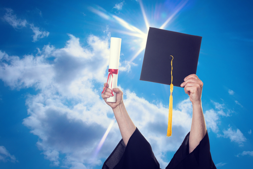 graduate with cerebral palsy